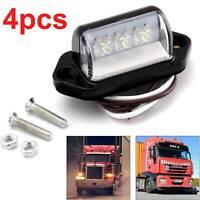 4 x 3LED Van License Trailer Licence Number Plate Light Lamp 12V/24V Lorry Truck