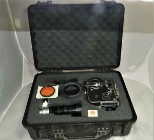 Vtg Paillard Bolex H16S 1965 Film Movie Camera w/ Angenieux zoom Lens+ two more
