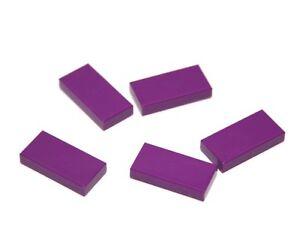 5x LEGO® Fliese/Kachel 1x2 3069b NEU Purple Purpur Violett RAR alte Farbversion