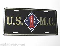 USMC 1ST US MARINES MARINE CORPS EMBOSSED METAL LICENSE PLATE 6 X 12 INCHES