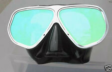 Scuba diving ALUMINIUM frame GHOST MASK brand NEW face BEAVER diver SNORKEL kit