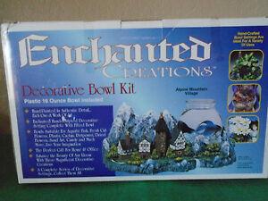 ALPINE MOUNTAIN VILLAGE DECORATIVE BOWL KIT NEW!!