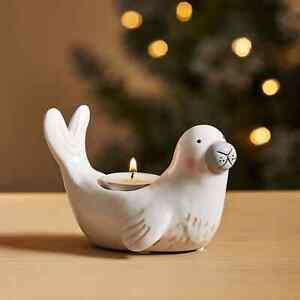 New Glossy Finish Seal Tealight Holder Adorable Christmas Decor M-21