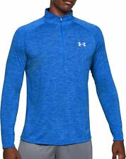 Under Armour Tech 2.0 Half Zip Long Sleeve Mens Training Top - Blue