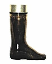 "Avon Brown Glass Boot Bottle Leather Cologne 6 1/2"".Empty"