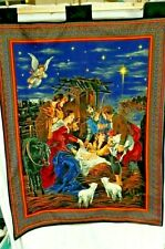 Christmas Nativity BANNER Large Lovely Border Tapestry-Look First NEW! Hanging