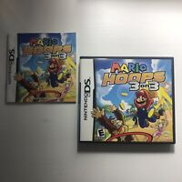 Mario Hoops 3 on 3 Nintendo DS Authentic Original Case & Manual ONLY - No Game