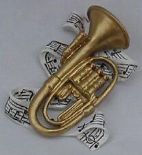 2 pcs. Baritone Polyresin Music Instrument Refrigerator Magnet