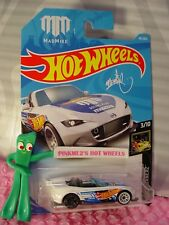 MADMIKE '15 MAZDA MX-5 MIATA #40✰white✰NIGHTBURNERZ✰2018 i Hot Wheels case B
