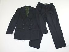 Jones New York Men's Suit Size 38 Short 29 x 29 Charcoal Gray Double Breasted S