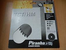 Piranha Black & Decker 150 x 20 x 36 TCT/ HM Kreissägeblatt Sägeblatt X13015 OVP