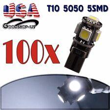 100X Canbus Error Free White T10 Wedge 5050 5SMD Car LED Light Bulbs W5W 194 168
