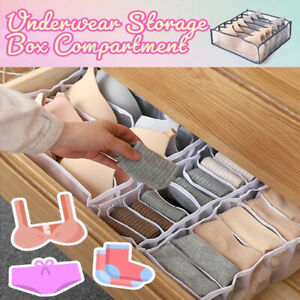 1/3PC Foldable Underwear Storage Box Compartment Underpants Bra Organizer Drawer