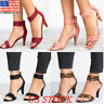Women's Mid Low Block Heel Sandals Fashion Ankle Strap Work Smart Summer Shoes