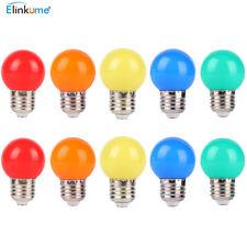 10x 1W E27 LED farbige Glühbirne Energiesparlampe für Party Hochzeit Dekoration