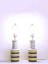 vtg midcentury minimalist NAUTICAL cottage shabby MOD granny chic CERAMIC lamps