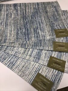 Lot Of 4 Arlee Home Fashions Color wave Collection Placemats New