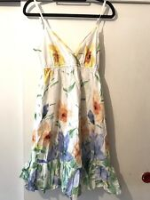 Ladies Pretty Floral Boho Cute Dress  U.K. Size 8 In Good Condition