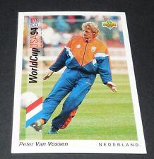 VAN VOSSEN ANDERLECHT NEDERLAND FOOTBALL CARD UPPER DECK USA 94 PANINI 1994 WM94