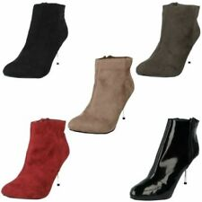 Ladies Spot On Ankle Boots With Stiletto Heel