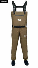 Clearance New Daiwa Breathable Chest Waders Khaki - All Sizes