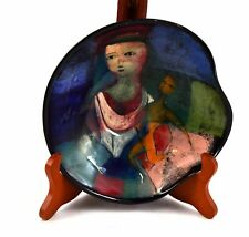 Rare Mid century Polia Pillin art pottery bowl w under-glaze signature