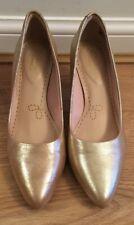 CLARKS SOMERSET Champagne (Gold) High Heels COURT SHOES Size UK 5.5 D EU 39