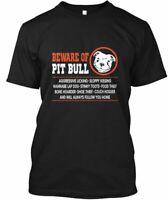 Beware Of Pit Bull Pitbull Dog - Aggressive Licking Hanes Tagless Tee T-Shirt
