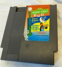 Sesame Street 1 2 3 Astro-Grover & Ernie's Magic Shapes Nintendo NES Game tested