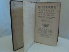 BUFFON.HISTOIRE NATURELLE.DES ANIMAUX ET DES HOMMES.1769.
