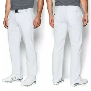 New UA UNDER ARMOUR MATCH PLAY GOLF PANTS 1291319 WHITE 36x32
