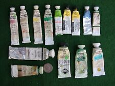 14 USED & HARD TUBES of good quality WATERCOLOUR & ARTISTS GOUACHE PAINT AF