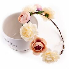 Boho Floral Flower Crown Headband Hair Garland Wedding Party Headpiece Hairband