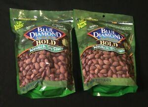 2 PACKS Blue Diamond Almonds Bold Wasabi & Soy Sauce 16 oz Ounce = 2 LBS