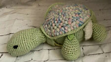 Handmade Turtle Toy Plush Turtle Stuffed Animal Crochet Sea Creature Amigurumi