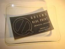 vintage 1940s glass ashtray Queens BluePrint Architects Engineers surveying