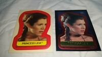 1999 and 1983 Topps Star Wars Chrome Archives Princess Leia Carrie Fisher cards