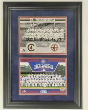 1908 & 2016 WORLD SERIES CHAMPIONS   (2) 8X10 PHOTO's  FRAMED TO 17 1/2 x 23 1/2