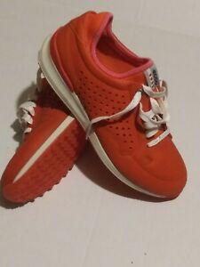 ECCO BIOM HYBRID orange/Fire  Golf Shoes womens  SIZE EUR 38 -US 7-7.5 preowned