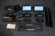 Two Dracast Led500 Pro Bi-Color V-Mount Lights, Batteries, & Accessories