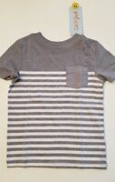 Cat & Jack Grey Stripe Infant Toddler Boys Shirt 18M 2T 3T 5T NWT