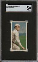 Rare 1909-11 T206 Ed Cicotte Black Sox Sovereign 350 Boston SGC 3 VG
