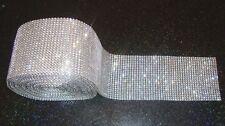 24 row 1yd diamante Real crystal Trim decoration costume ribbon mesh rhinestone