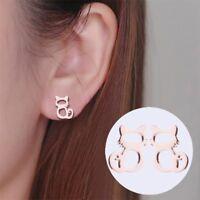 Cute Animal Stud Earrings Girls Stainless Steel Cat Earrings Jewelry For Women