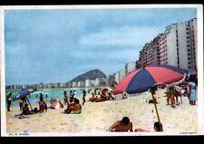 RIO de JANEIRO (BRESIL) COPACABANA / PLAGE & HOTELS en 1967