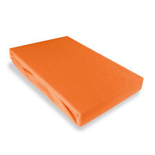 DRAP HOUSSE JERSEY  140/160 x 200cm -  ORANGE CAROTTE