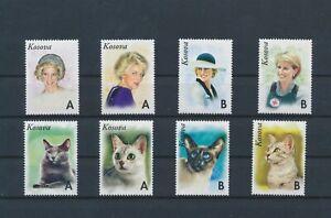 LO09133 Kosovo cats pets princess Diana fine lot MNH