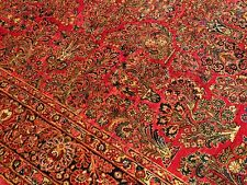 9 x 12 Handmade High Quality Antique1920 Persian Saruq Fine Wool Rug  Excellent