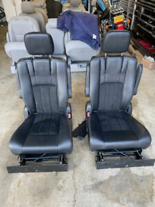 2011 -2020 TOWN 'N COUNTRY GRAND CARAVAN COMPLETE STOW N' GO SEAT BLACK LEATHER
