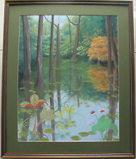 Laurie Paul(1928~)~well listed artist~ Original Painting~Rainforest Series~1990
